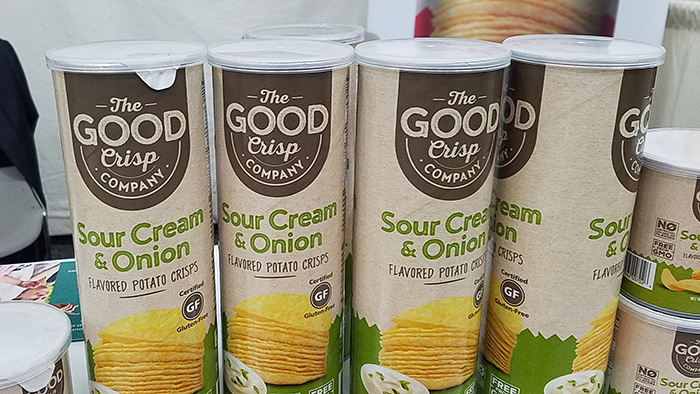 Sour Cream and Onion chips by The Good Crisp Company. Expo East, Concentric.