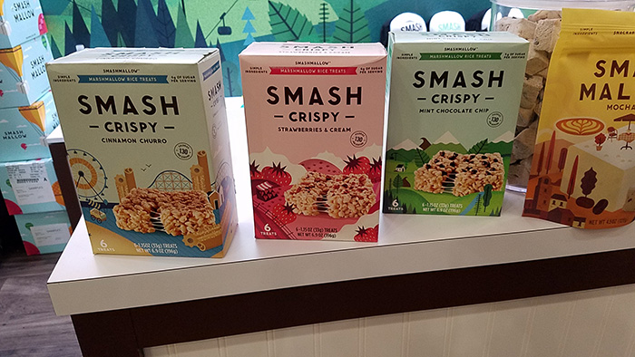 Smash Crispy healthy snacks by Smashmallow, seen at Baltimore's Expo East natural foods show.