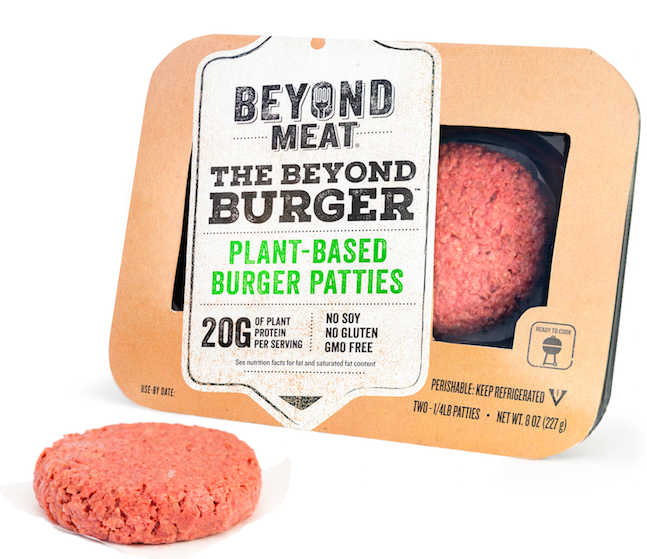 Beyond Meat package and burger