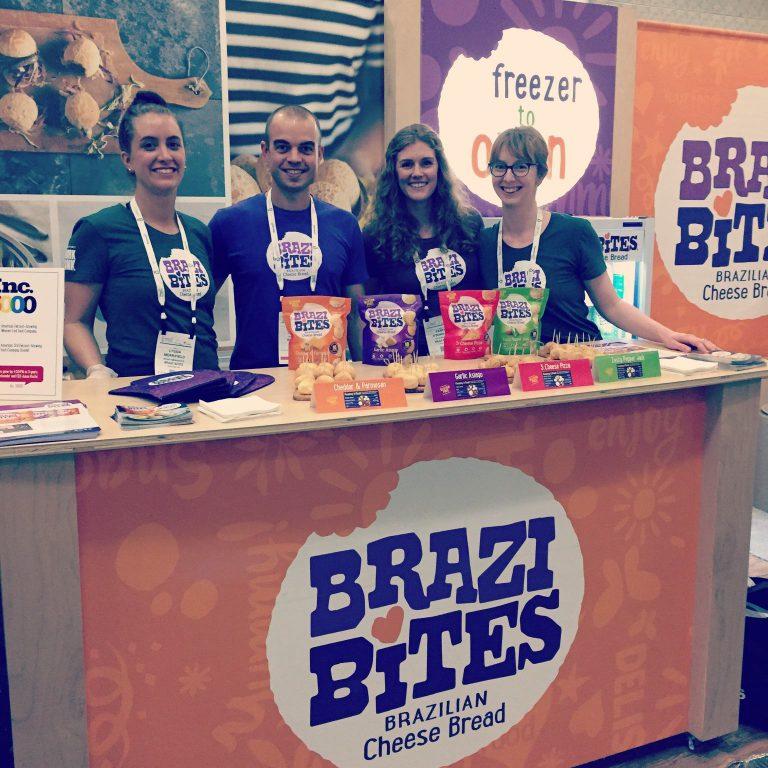 Brazi Bites Brazilian Cheese Bread, team at Expo East 2017