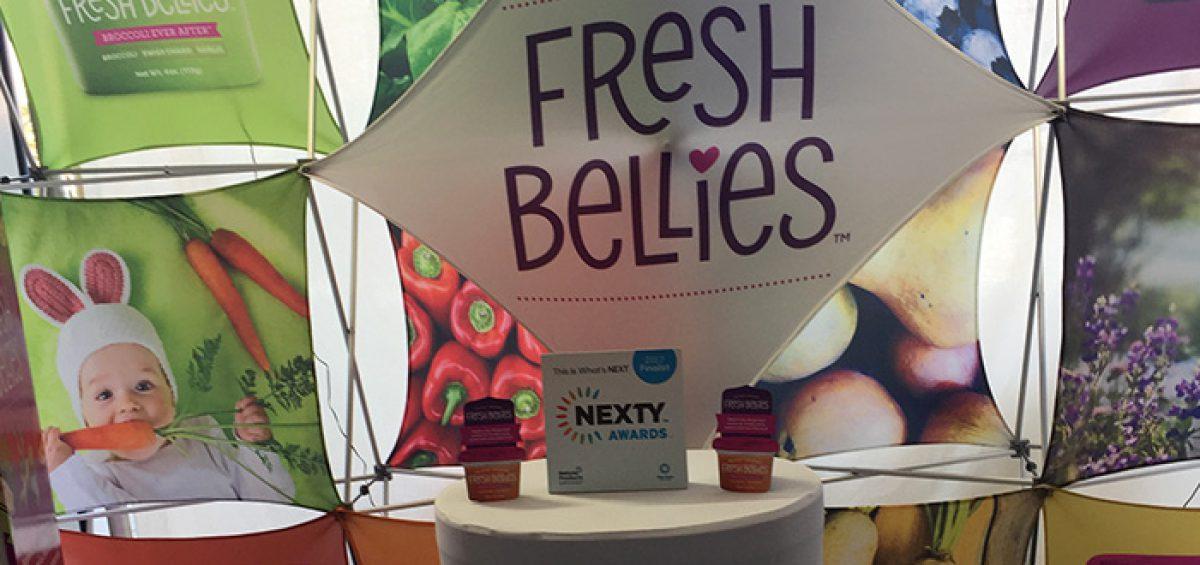 Fresh Bellies baby food, winner of Expo East's 2017 Nexty Award.