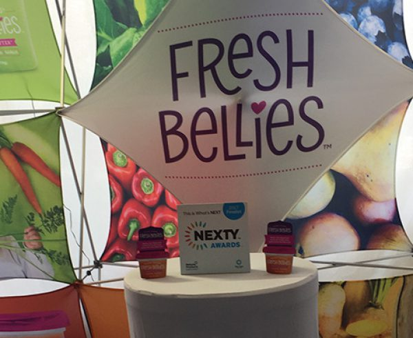 Fresh Bellies baby food, winner of Expo East's 2017 Nexty Award.